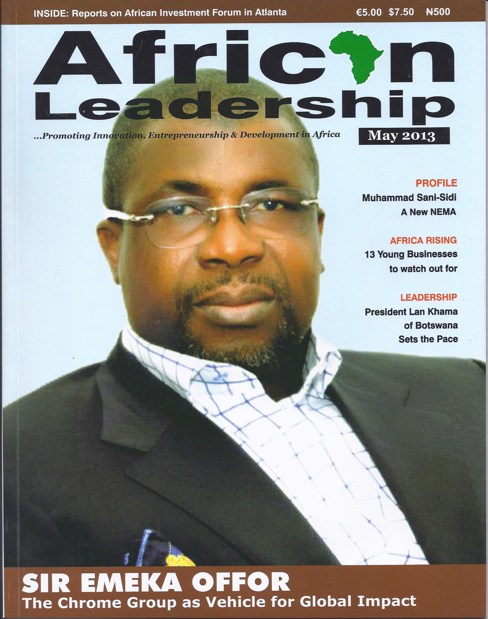 African Leadership Magazine meets Sir Offor